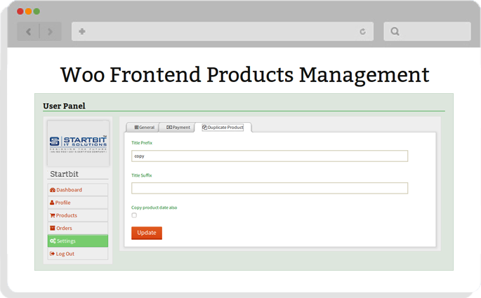 manage products in woocommerce store from frontend